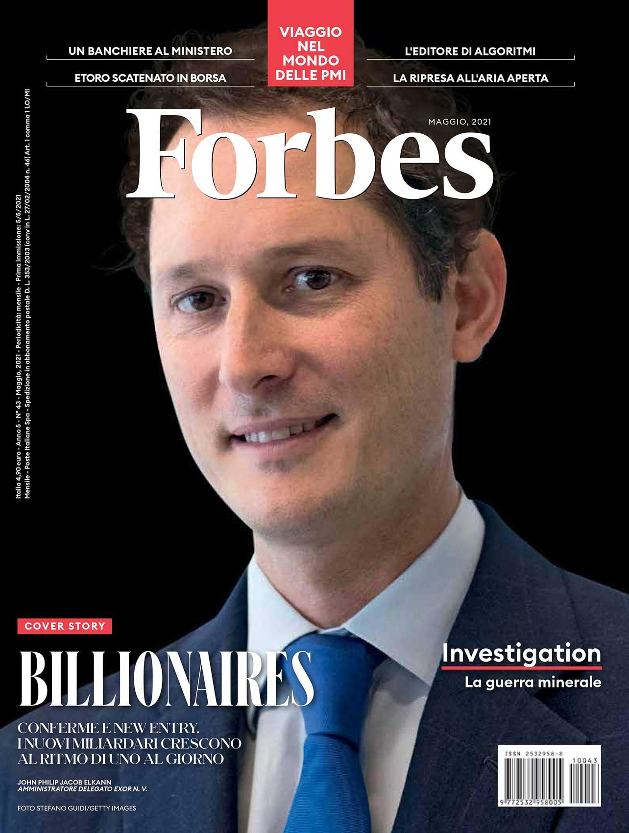 Copertina Forbes maggio